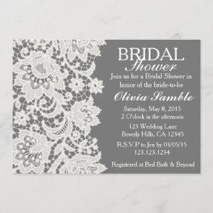 Shabby Chic Lace Bridal Shower Invitation starting at 2.66