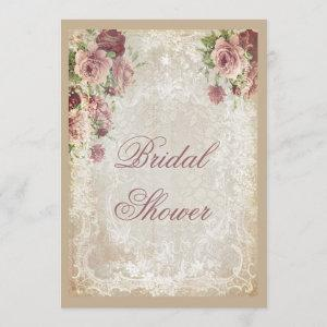 Shabby Chic Roses Pearls and Lace Bridal Shower starting at 2.66