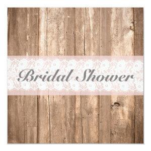 Shabby Chic Rustic Bridal Shower Customizable Invitation starting at 2.41