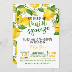 She Found Her Main Squeeze - Bridal Shower Invitation starting at 2.50