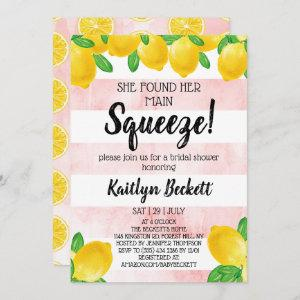 She Found Her Main Squeeze Lemon Bridal Shower Invitation starting at 2.51