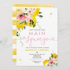 She Found Her Main Squeeze Lemon Bridal Shower Invitation starting at 2.61