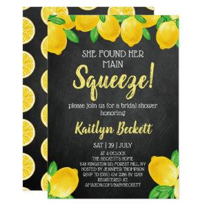 She Found Her Main Squeeze Lemon Bridal Shower Invitation starting at 2.26