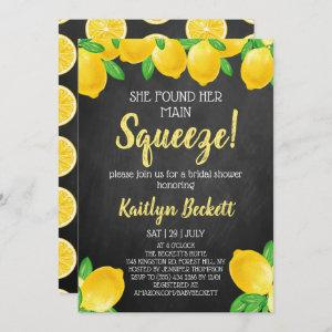 She Found Her Main Squeeze Lemon Bridal Shower Invitation starting at 2.45
