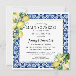 She Found Her Main Squeeze Lemon Bridal Shower Invitation starting at 2.41