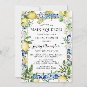 She Found Her Main Squeeze Lemon Bridal Shower Invitation starting at 2.56