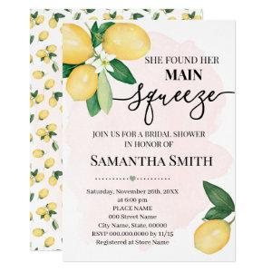She found her main squeeze lemon bridal shower invitation starting at 2.55