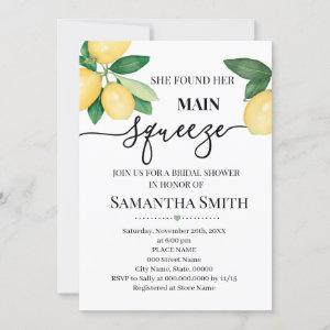 She found her main squeeze, lemons bridal shower invitation starting at 2.55
