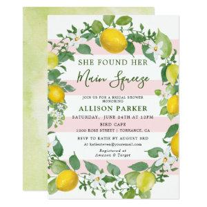 She Found Her Min Squeeze Lemon Bridal Shower Invitation starting at 2.61