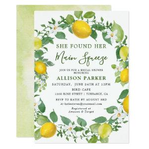 She Found Her Min Squeeze Lemon Bridal Shower Invitation starting at 2.36