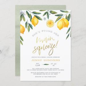 She's Found Her Main Squeeze Lemon Bridal Shower Invitation starting at 2.45