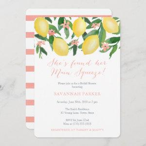 She's Found Her Main Squeeze Lemons Bridal Shower Invitation starting at 2.86