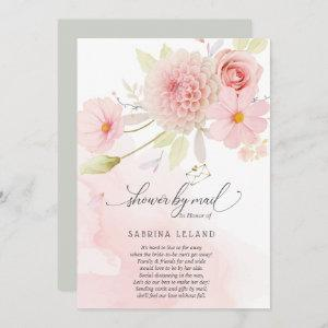 Shower by Mail Blush Pink Floral Spray Invitation starting at 2.51