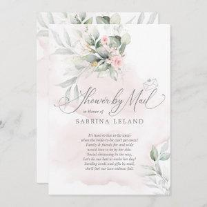 Shower by Mail  | Rustic Floral Garden Pale Pink Invitation starting at 2.51