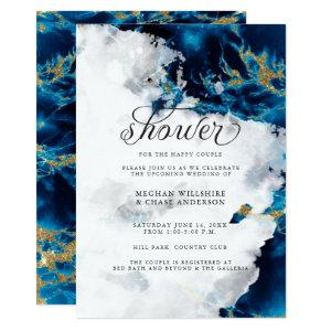 Shower Invite   Blue Sapphire Watercolor Geode starting at 2.66