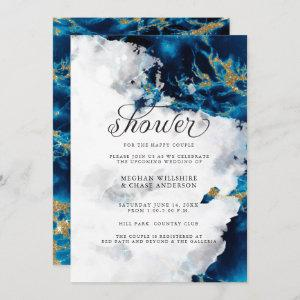 Shower Invite | Blue Sapphire Watercolor Geode starting at 2.51