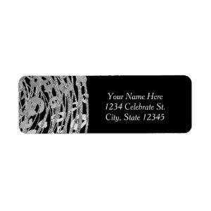 Silver Glam Cheetah Print Exotic Party  Label starting at 3.35