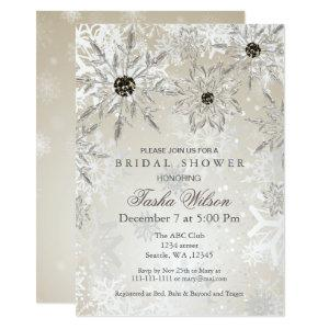 silver Gold Winter Bridal Shower Invite starting at 2.61