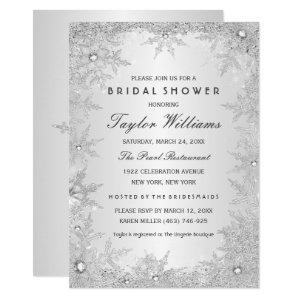 Silver Jewel Snowflake Bridal Shower Invitation starting at 2.55