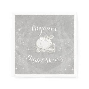 Silver Sparkle Carriage Cinderella Elegant Party Paper Napkins starting at 43.90