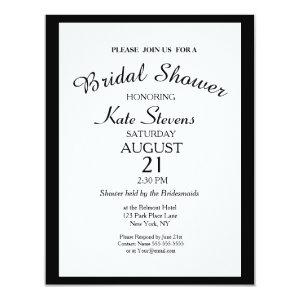 Simple Black and white Bridal Shower Card starting at 2.21