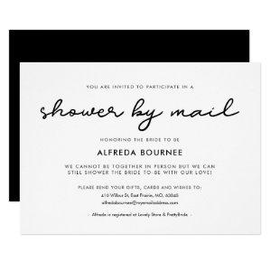 Simple Bridal Shower by mail Invitation starting at 2.25