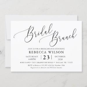 Simple Calligraphy Rustic Bridal Brunch Invitation starting at 2.50