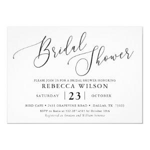 Simple Calligraphy Rustic Bridal Shower Invitation starting at 2.50