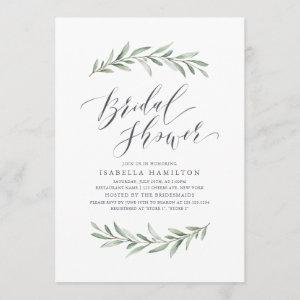 Simple calligraphy rustic greenery bridal shower starting at 2.56