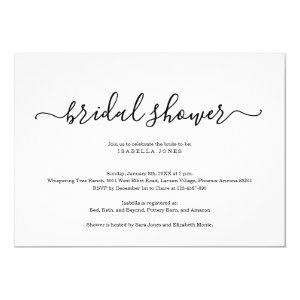 Simple Elegant Bridal Shower Invitation starting at 2.40