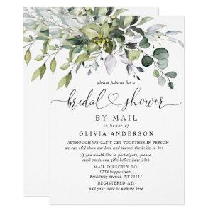 Simple Elegant Eucalyptus BRIDAL Shower By Mail Invitation starting at 2.30