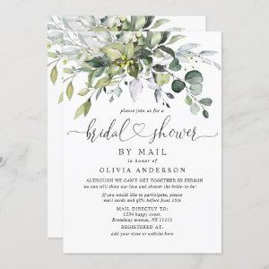 Simple Elegant Eucalyptus BRIDAL Shower By Mail Invitation starting at 2.35