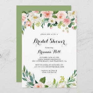 Simple Floral Green Foliage Bridal Shower Invitation starting at 2.51