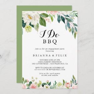 Simple Floral Green I Do BBQ Engagement Party Invitation starting at 2.51