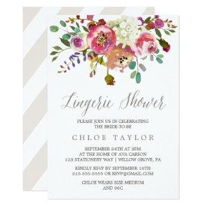 Simple Floral Watercolor Bouquet Lingerie Shower Invitation starting at 2.26