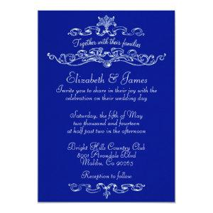 Simple Luxury Navy Blue Wedding Invitations starting at 2.66