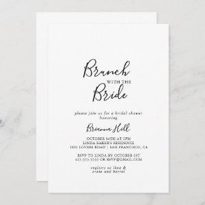 Simple Minimalist Brunch with the Bride Shower Invitation starting at 2.51
