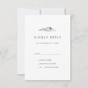 Simple Mountain Simple Wedding RSVP Card starting at 2.01