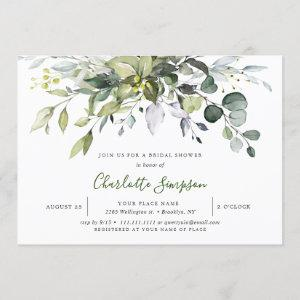 Simply Elegant Eucalyptus Bridal Shower Invitation starting at 2.30