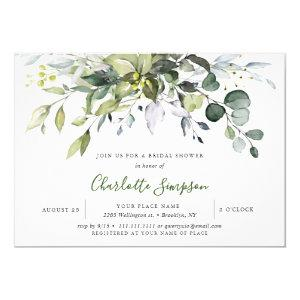 Simply Elegant Eucalyptus Bridal Shower Invitation starting at 2.25
