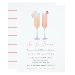 Sip Sip Hooray Mimosa Bar Cocktail Bridal Shower Invitation starting at 3.03
