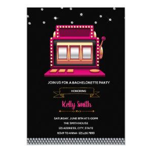 Slot machine bridal shower party invitation starting at 2.50