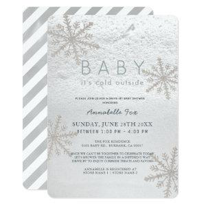 Snowflake Baby Its Cold Drive-by Baby Shower Invitation starting at 2.76