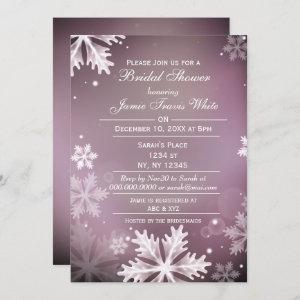 Snowflakes Pink Winter Bridal shower invite starting at 2.50