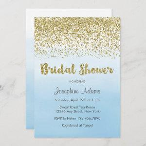 Soft Blue and Gold Bridal Shower Invitation starting at 2.51