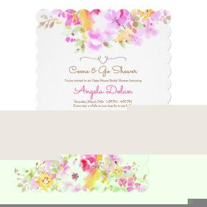 Soft Floral Come and Go Bridal Shower Invitation starting at 2.70