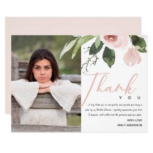 SOFT PINK BLUSH ROSE BRIDAL SHOWER THANK YOU PHOTO INVITATION starting at 2.65