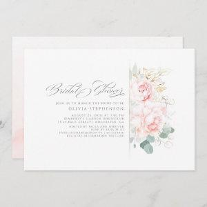 Soft Pink Flowers and Gold Greenery Bridal Shower  Invitation starting at 2.51