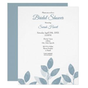 Soft Slate Watercolor Leaves Invitation starting at 2.10
