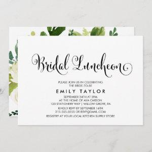 Southern Calligraphy | Floral Back Bridal Luncheon Invitation starting at 2.51